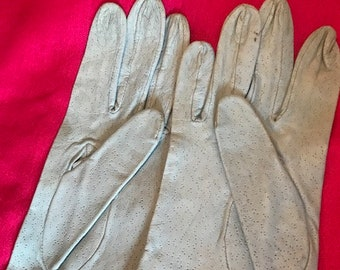 Vintage Cavalli Black Leather Gloves with Knotted Leather Feature Label States XL