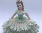 MULLER VOLKSTEDT Irish Dresden figurine porcelain lace - Tracy