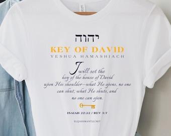 "Torah Shirts ""Key of David"" 100% Profit Donated, Yeshua T, Christian Gifts, YHWH, Tetragrammaton, Hebrew Shirts, Aleph Tav, Messiah T, Jesus"
