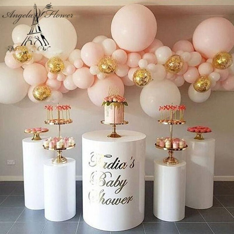Various Types Wedding Props Party Flower Cake Stand Acrylic Iron Cylindrical Dessert Table Pre Function Area Decor Frame Shelf
