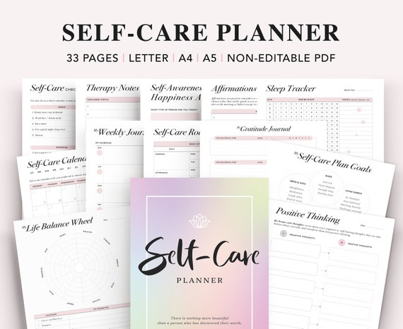 Self Care Journal Self Care Kit Self Care Planner Self Care