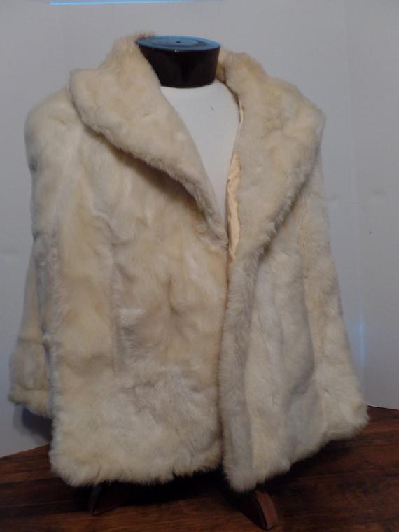 VTG Tissavel Faux Fur (Acrylic) Stole/Cape