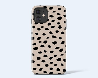 COFFEE DOTS    For iPhone 13 Case, iPhone 12 Case, iPhone 11 Case, iPhone xr Case, More Models Available, Abstract Dot Pattern, Beige