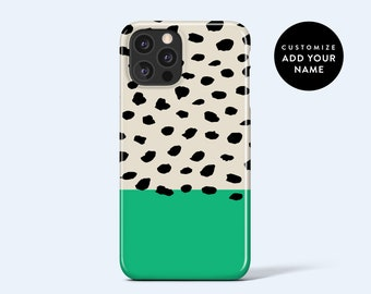 ABSTRACT DOTS GREEN   For iPhone 13 Case, iPhone 12 Case, iPhone 11 Case, iPhone xr Case, More Models Available, Personalised Case