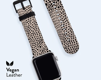 COCO Apple Watch Strap    Vegan H21 Leather band, Available for Apple watch series 1, 2, 3, 4, 5, 6 & SE, Abstract Pattern, Modern Band