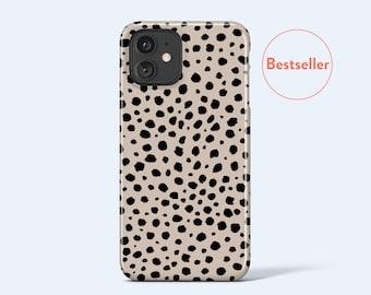 DOTS iPhone Case   For iPhone 13 Case, iPhone 12 Case, iPhone 11 Case, iPhone XR Case, More Models Available, Dot Pattern, Modern, Beige