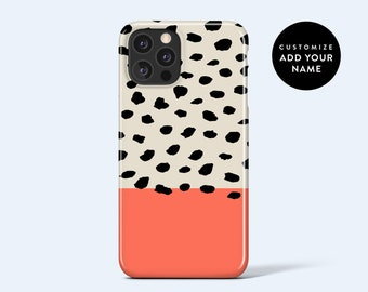 ABSTRACT DOTS CORAL   For iPhone 13 Case, iPhone 12 Case, iPhone 11 Case, iPhone xr Case, More Models Available, Personalised Case