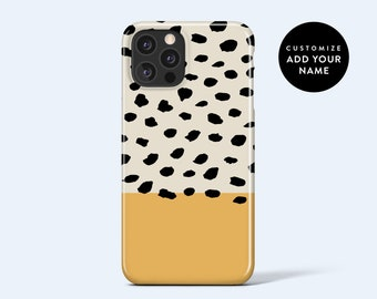 ABSTRACT DOTS Blonde   For iPhone 13 Case, iPhone 12 Case, iPhone 11 Case, iPhone XR Case, More Models Available, Personalised Case