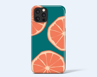 GRAPEFRUIT   For iPhone 13 Case, iPhone 12 Case, iPhone 11 Case, iPhone XR Case, More Models Available, Fruit Print, Bright, Summer