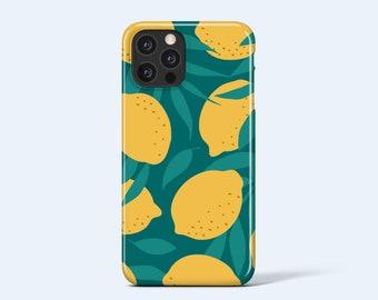 LEMONS   For iPhone 13 Case, iPhone 12 Case, iPhone 11 Case, iPhone XR Case, More Models Available, Modern Fruit Print