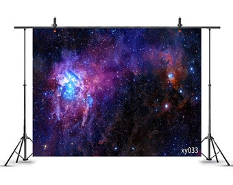 Galaxy 12x10 FT Vinyl Backdrop PhotographersColorful Nebula Spiral Design in Space Stardust Orbit Infinity Universe Print Background for Baby Birthday Party Wedding Graduation Home Decoration