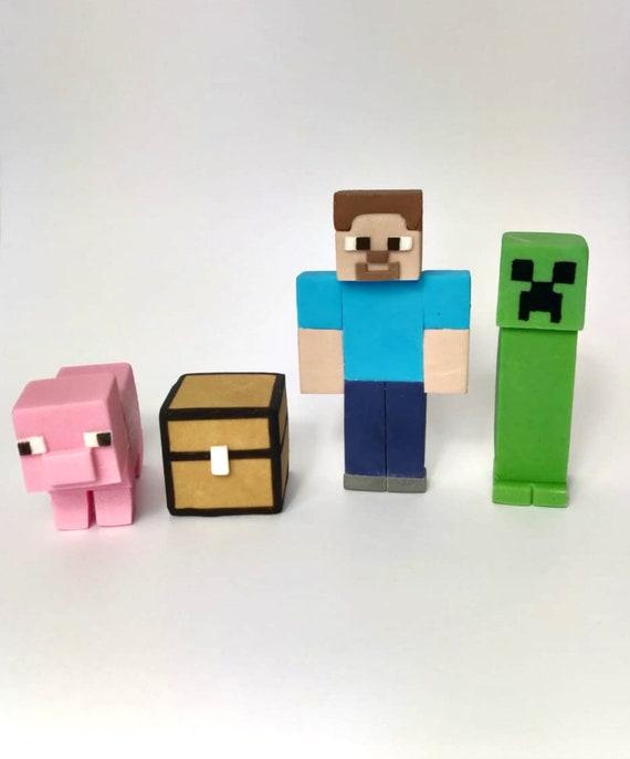 Minecraft Fondant Cake Topper Minecraft Figures Birthday Etsy