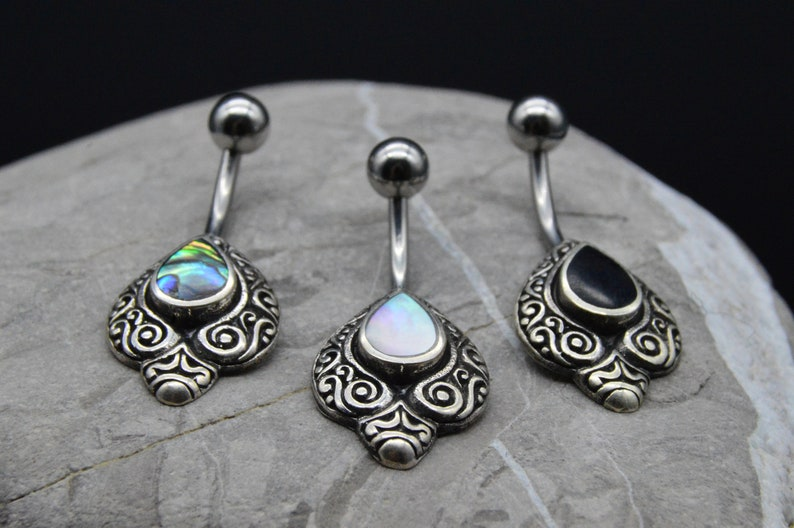 925 Silver Belly Button Piercing S2