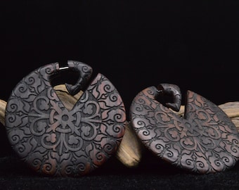 Earrings from Narra Wood