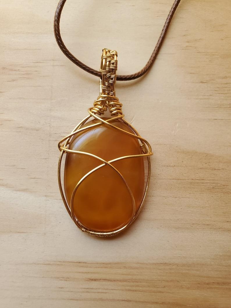 Honeycomb Agate Pendant