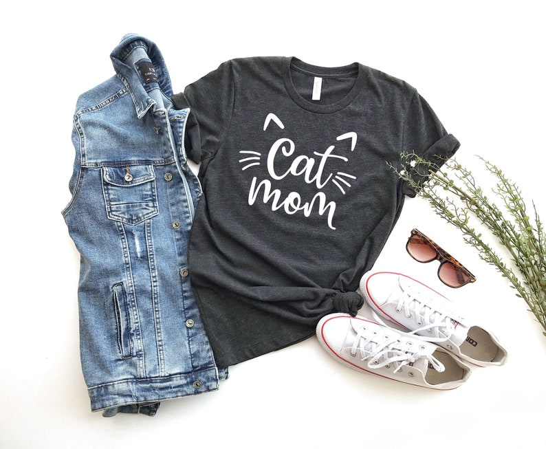 Cat Mom Shirt Gift to Mom Pet Lover Shirt Cat Shirt Cat image 0