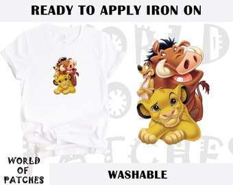 LION KING IRON ON T-SHIRT HEAT TRANSFER  SIMBA NALA MUFASA LOT LKT