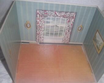 RENWAL Doll House Furniture – Cardboard Room Display –  Dining Room - RARE!!