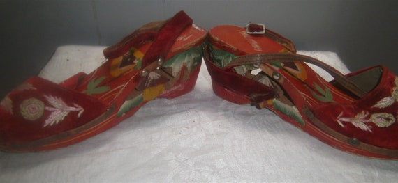 Hand Carved Sandels – Philipines – Circa 1940's