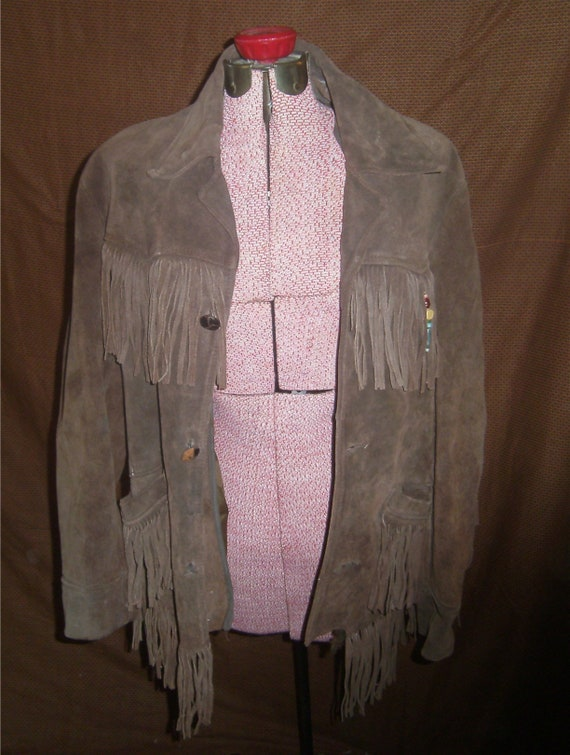 VINTAGE Seude Fringed Jacket – 1960's