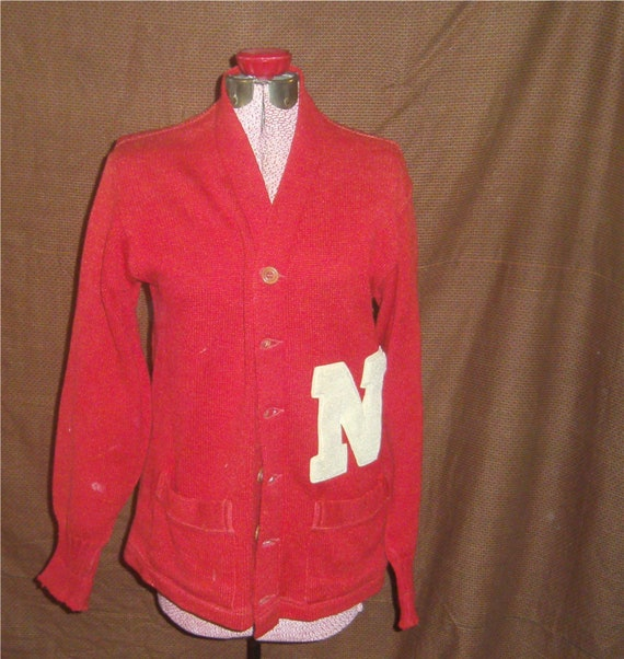 MEN'S VINTAGE SWEATER –  Red Varisty Sweater 1940'