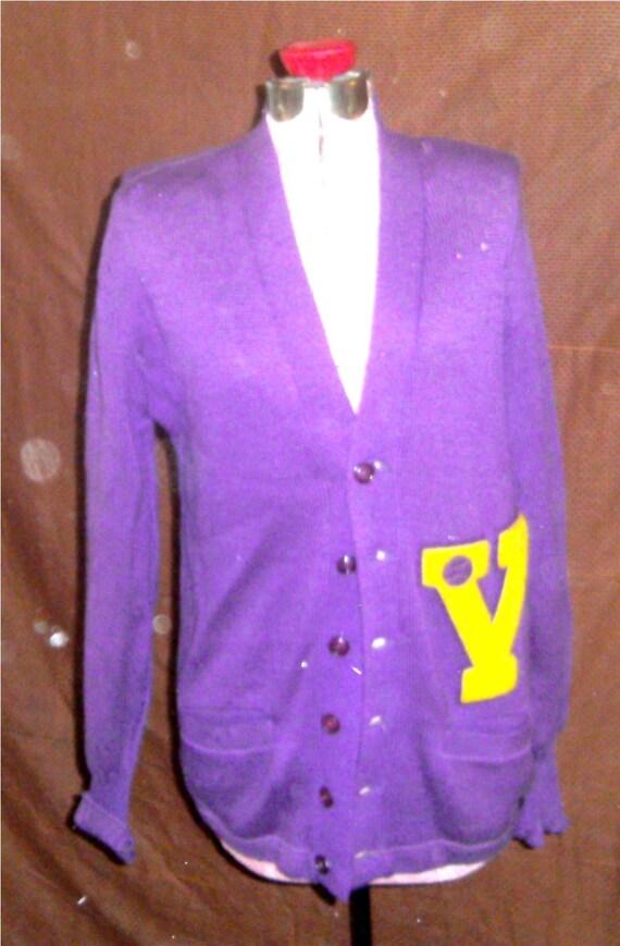 MEN'S VINTAGE SWEATER – Purple Varisty Sweater 194