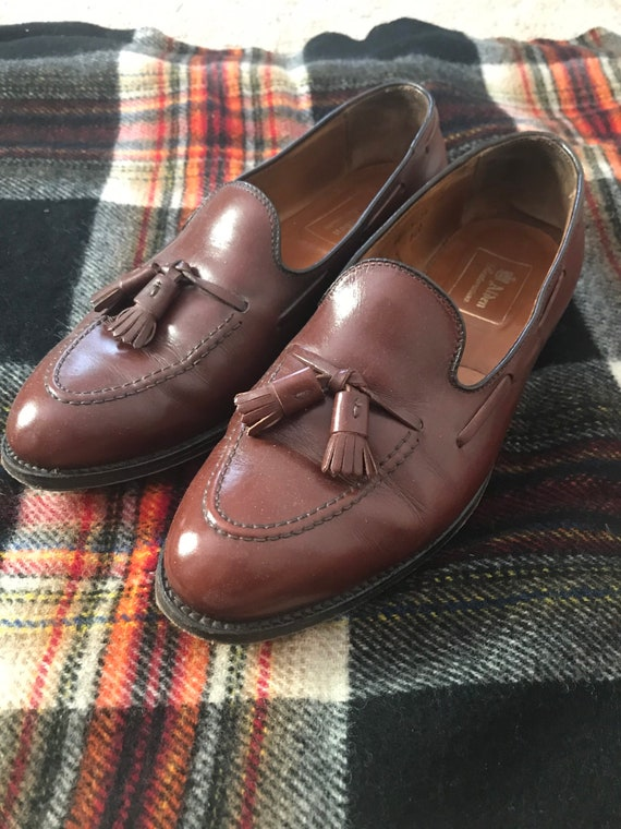 Alden Tassel Loafers in Light Brown