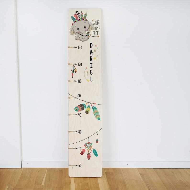 Holz Messlatte für Kinder personalisiert mit Name