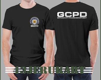 Adult Mens Black DC Comics Super Hero Gotham City Batman Yellow Logo T-shirt Tee