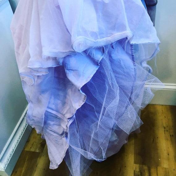 1950's Vintage dress pale lavender taffeta with t… - image 5