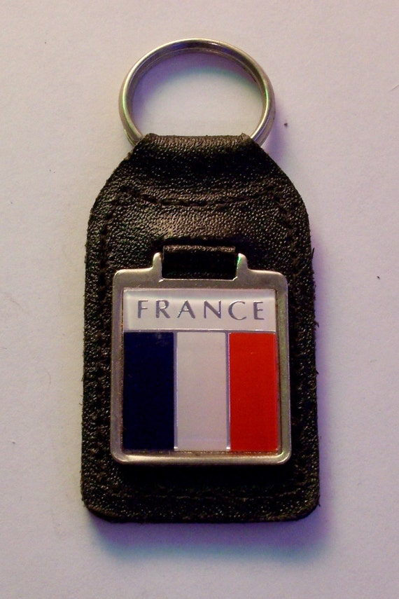 Germany Flag National Colours Quality Leather and Chrome Keyring