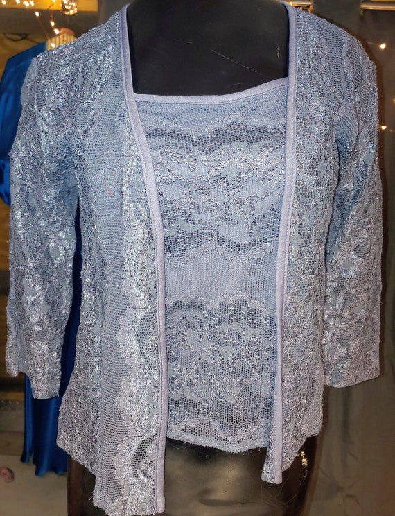 Grey vintage lace tank top and matching cami