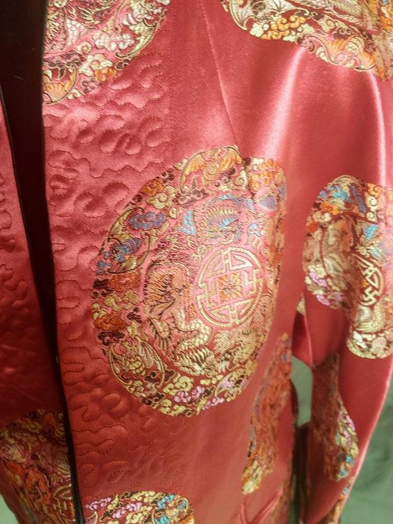 Vintage handmade silk kimono, reversable