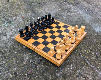 Soviet chess set USSR \u0441hess set. Ceramic chess set