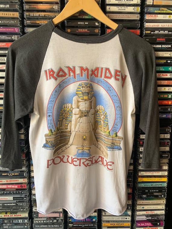 Rare! 1984 Iron Maiden Powerslave world tour tee