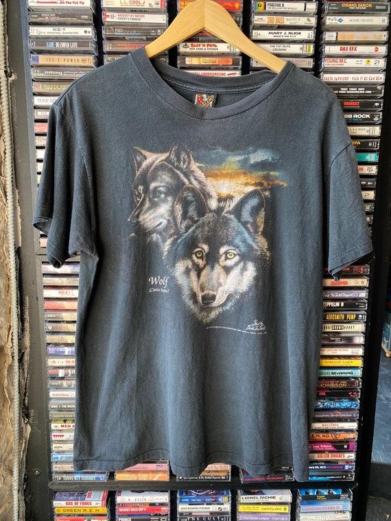 1992 3D Emblem Wolf t-shirt Large made in USA