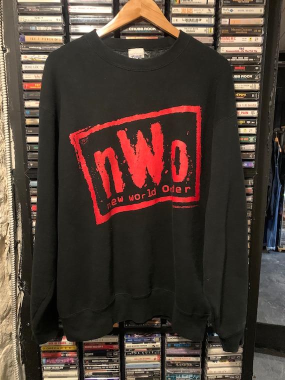 Vintage 90's nWo WCW wrestling crewneck sweater XL