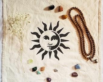 Sun Meditation Cloth Altar Cloth Sacred Space Celestial Cloth Large 20 x 20 Altar Accessory Crystal Mat