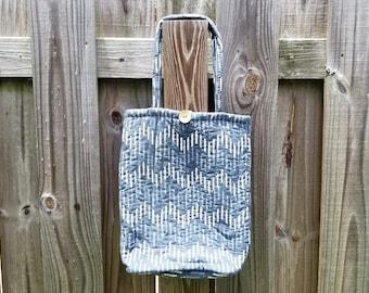Fair Trade Shoulder Bag Cotton Boho Shoulder Bag Fair Trade Indian Purse Hippie Handbag Handmade Purse Fair Trade Purse Blue Boho Purse