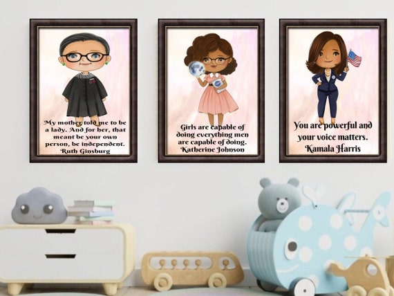 Choose Any 3 Influential Women in History Wall Art Prints