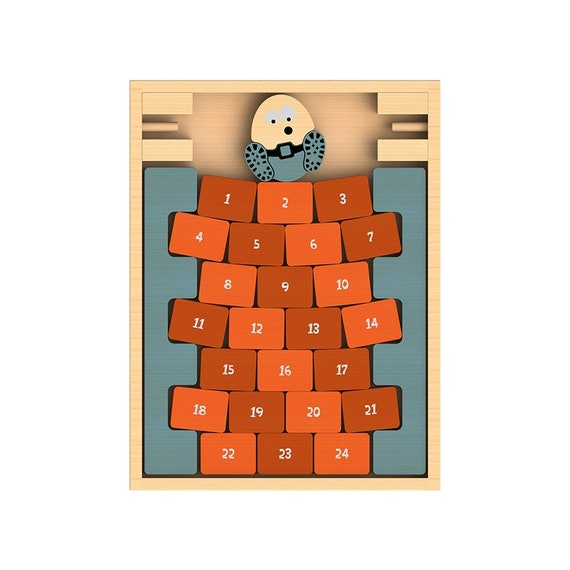Humpty Dumpty Number Recognition and Math Wooden Game