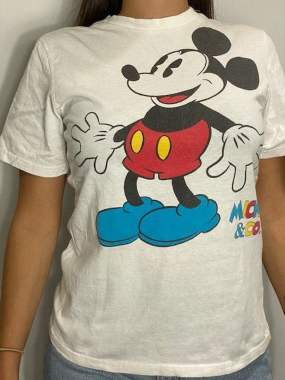 Vintage 90s - Mickey & Co - Mickey Mouse - White T