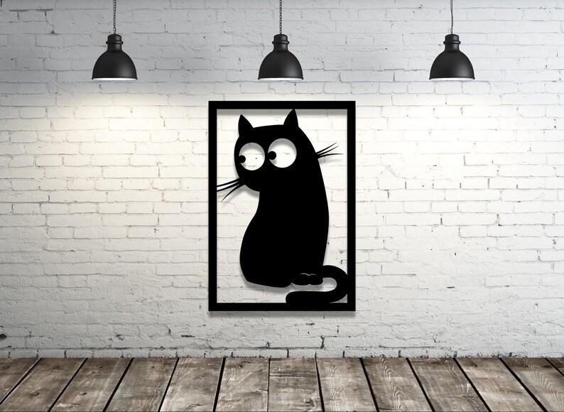 home wall art decor Cat panel laser svg glowforge file dxf laser Laser cut files SVG laser template DXF vector plans