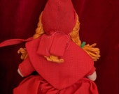 Vintage Red Riding Hood Topsy Turvy Reversible Doll