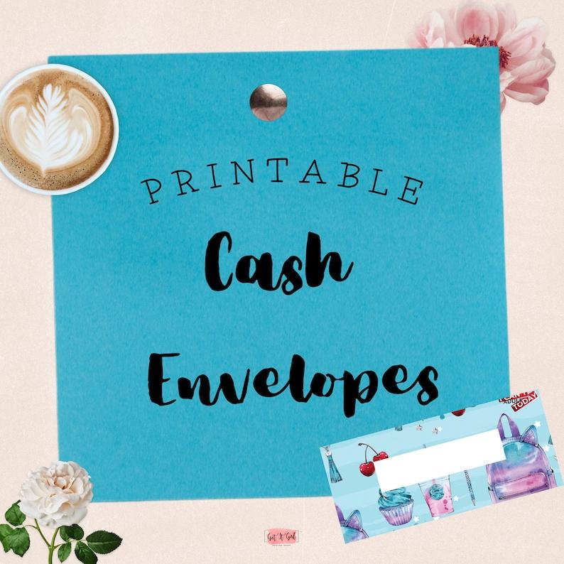 School Daze Editable Printable Cash Envelopes Set of 6 PDF Budget Envelopes Cash Envelope Wallet Cash Envelopes Filofax Cash Wallet