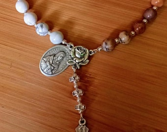 St Kateri Stone and Silver Chaplet