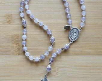 Lavender Amethyst Rosary