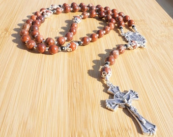 Red Jasper and Black Onyx Rosary