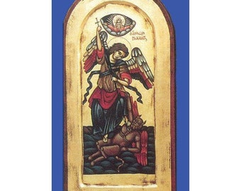 Authentic Greek/Byzantine Icon of St Michael the Archangel