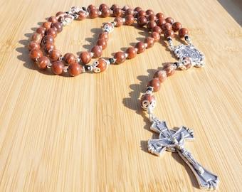 Red Jasper and Black Onyx Rosary